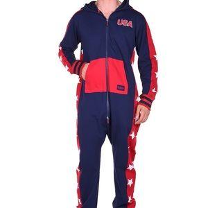 Tipsy Elves USA Stars Men's Jumpsuit Costume